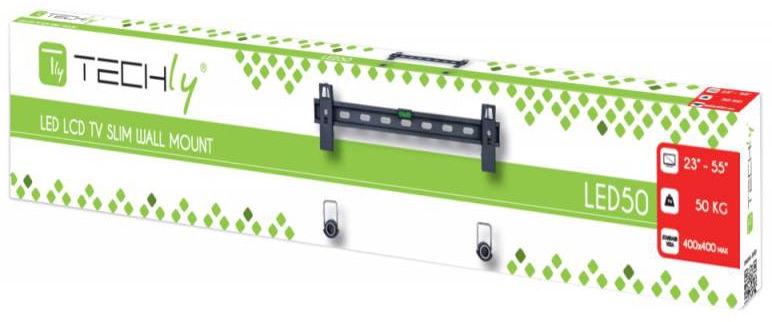 "Techly Wall Mount For TV Slim 50 Kg 23-55"""
