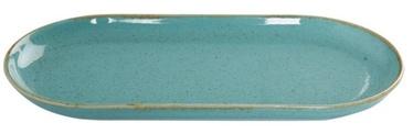 Porland Seasons Oval Plate 15x30cm Turquoise