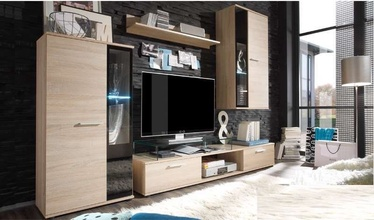 Stolarz-Lempert Wall Unit Salsa With Lights Sonoma Oak