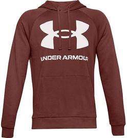 Under Armour Rival Fleece Big Logo Hoodie 1357093-688 Brown 2XL