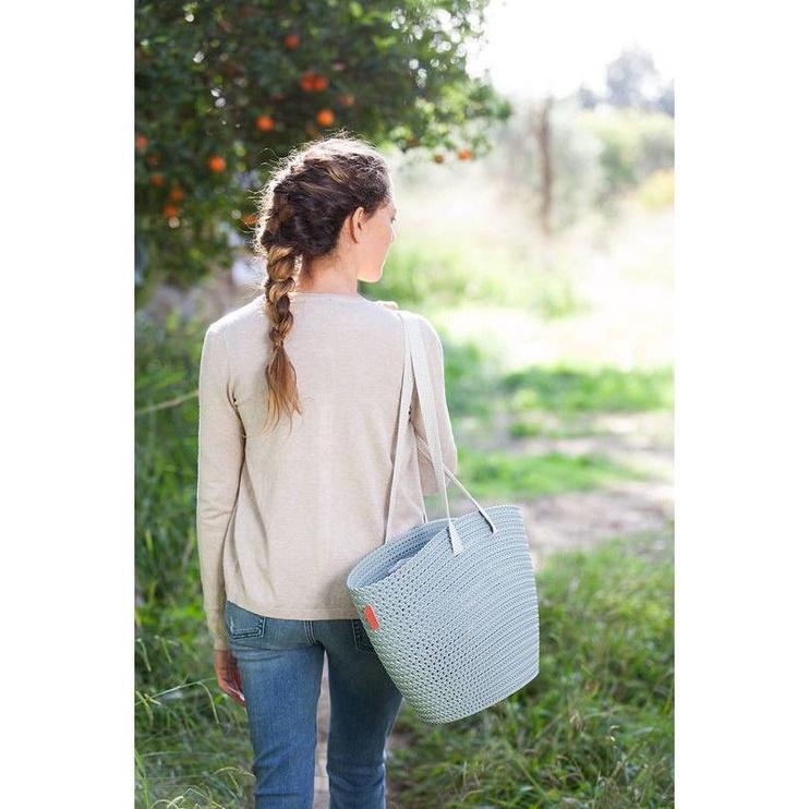 Curver Shopping Bag Knit Emily Dark Blue