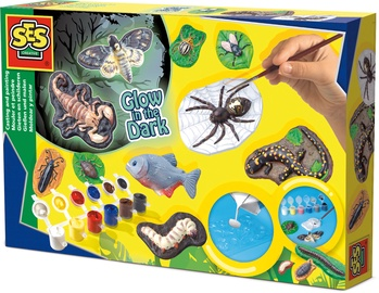SES Creative Glow In The Dark Scary Animals Casting & Painting 01153