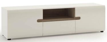 ТВ стол Meble Wojcik Linate 50 White/Truffle Oak, 1640x419x457 мм