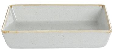 Porland Seasons Serving Plate With Edges 16.5x10.1cm Grey