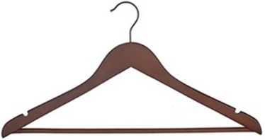 Home4you Wooden Hanger Set 3pcs Dark Wood