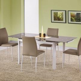 Обеденный стол Halmar Alston, белый/кремовый, 1200x800x750мм