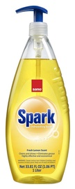 Sano Spark Dishwashing Liquid With Fresh Lemon Scent 1l