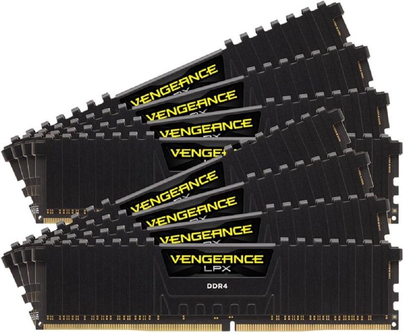 Corsair Vengeance LPX Black 64GB 4000MHz CL19 DDR4 KIT OF 8 CMK64GX4M8X4000C19