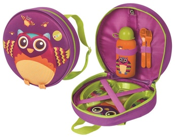 Oops Owl Winkling Lights Backpack With Weaning Set 4pcs