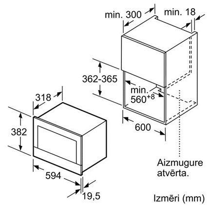 Integreeritav mikrolaineahi Bosch BER634GS1