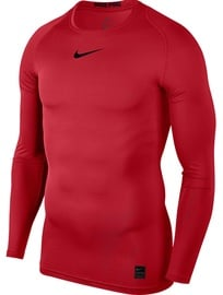 Nike Men's T-shirt Pro Top Compression LS 838077 657 Red S