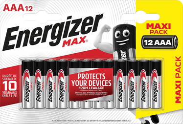 Patarei Energizer Max AAA 1,5V Alka 12tk