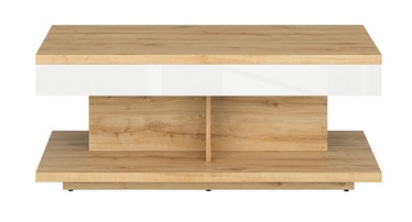 Black Red White Erla Coffee Table White/Oak