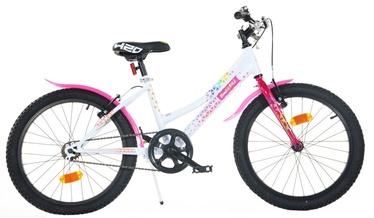 "Lastejalgratas Bimbo Bike 20"" White Pink"