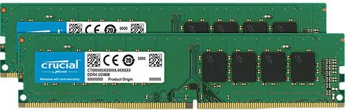 Crucial 16GB 2666MHz CL19 DDR4 KIT OF 2 CT2K8G4DFS8266