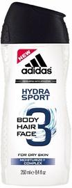 Dušigeel Adidas 3in1 Hydra Sport, 250 ml