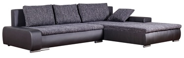 Угловой диван Platan Tivano Black/Dark Gray, 302 x 213 x 80 см