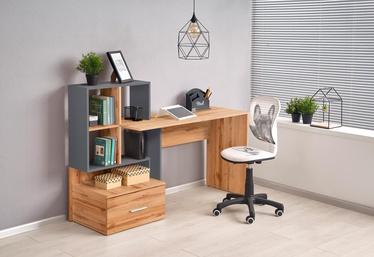 Письменный стол Halmar Grosso, дубовый/антрацитовый