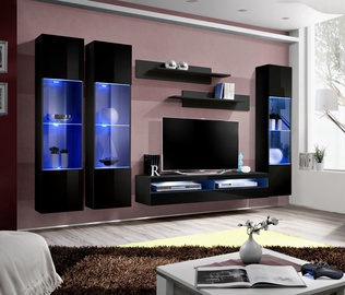 ASM Fly P13 Living Room Wall Unit Set Black