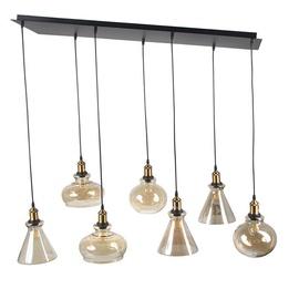Enriko Ceiling Lamp E27 7x60W Black/Nickel