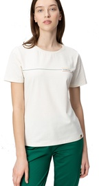 Audimas Womens Cotton Tee With Print White M