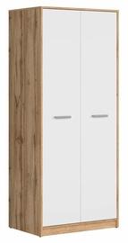 Riidekapp Black Red White Matos Wotan Oak/White, 80x54.5x189 cm