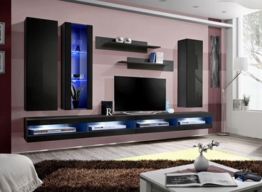 ASM Fly Q9 Living Room Wall Unit Set Black
