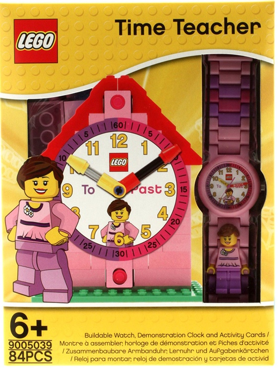 LEGO Time Teacher Minifigure Link Buildable Watch Pink
