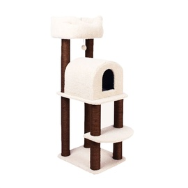 SN Scratching Post 55x45x103cm Brown/White