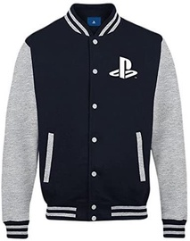 Licenced Playstation Buttons Men College Jacket Navy/Grey L
