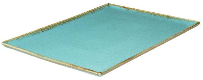 Porland Seasons Serving Plate 35x26.2cm Turquoise