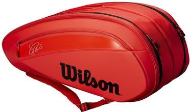 Wilson Federer DNA 12 Pack Tennis Bag Red