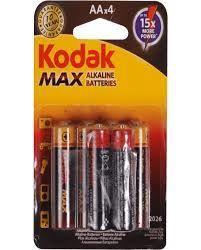 Kodak LR06-4BB AA Max Batteries 4x
