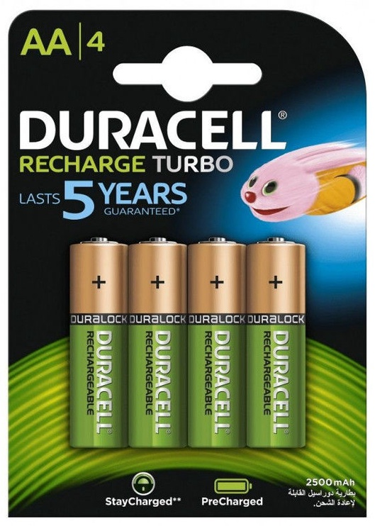 Duracell Turbo Rechargeable AA Battery 4x