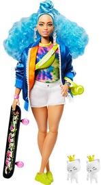 Nukk Barbie Extra Doll With Skateboard & Kittens GRN30