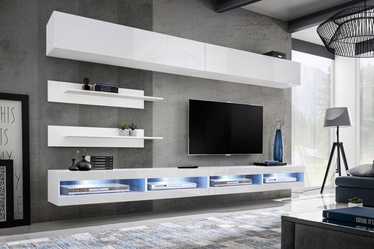 ASM Fly T1 Living Room Wall Unit Set White