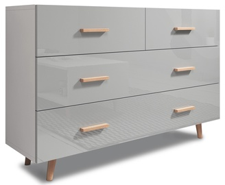 Vivaldi Meble Sweden Chest of Drawers White/Grey Gloss