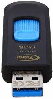 USB mälupulk Team Group C145 Black/Blue, USB 2.0, 16 GB