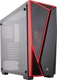 Corsair Carbide SPEC-04 Mid Tower ATX w/ Tempered Glass Side Case Black/Red