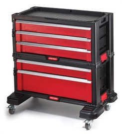 Keter Tool Box With Wheels Red/Black