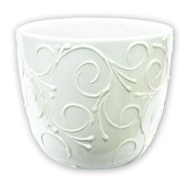Keraamiline lillepott valge