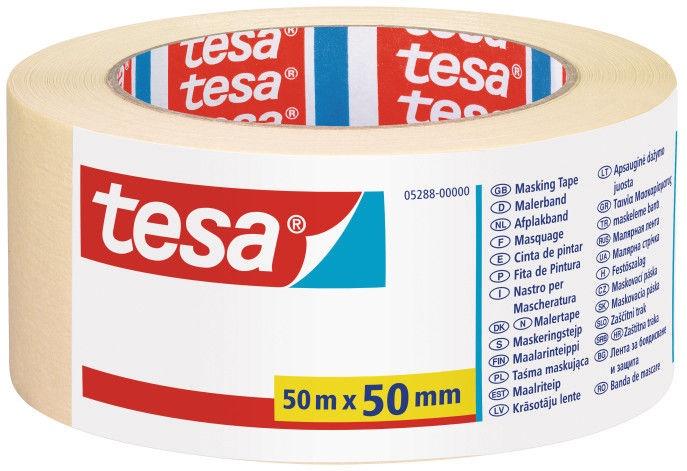 Tesa Painters Tape Yellow 50m x 50mm