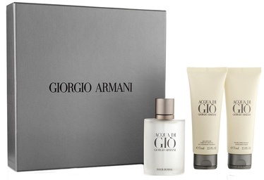 Komplekt meestele Giorgio Armani Acqua di Gio Pour Homme 50 ml EDT + 75 ml After Shave Balm + 75 ml Shower Gel