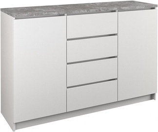 Комод Top E Shop B22 4 Drawers 2 Doors White Concrete