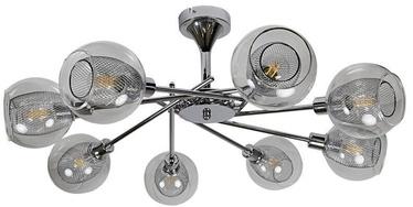 Candellux Ozzo 8x40W E14 Ceiling Lamp Chrome Glass