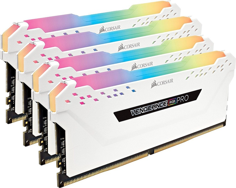 Corsair Vengeance RGB Pro White 32GB 3200MHz CL16 DDR4 KIT OF 4 CMW32GX4M4C3200C16