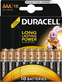 Duracell Alkaline Long Lasting Power Batteries 18x AAA