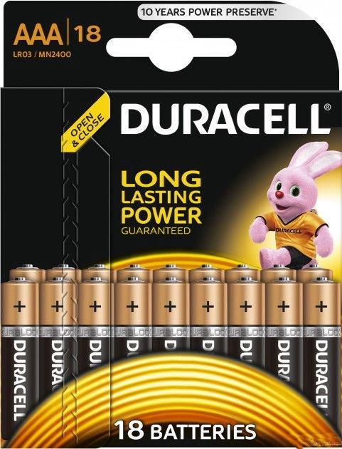 Duracell Alkaline Long Lasting Power Batteries 18x AAA