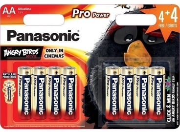 Panasonic Pro Power Angry Birds Battery LR6PPG/8B 4+4 x AA