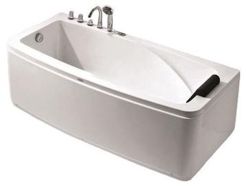 Vento Acrylic Bath With Mixer Right White 170x80x60cm